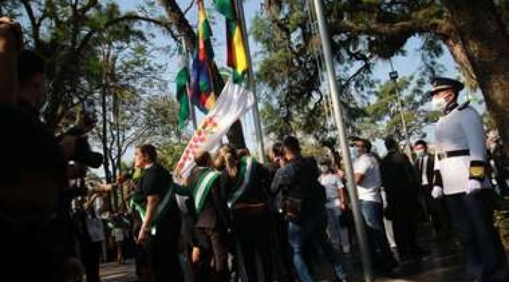 Choquehuanca reivindica la Wiphala como símbolo de unidad
