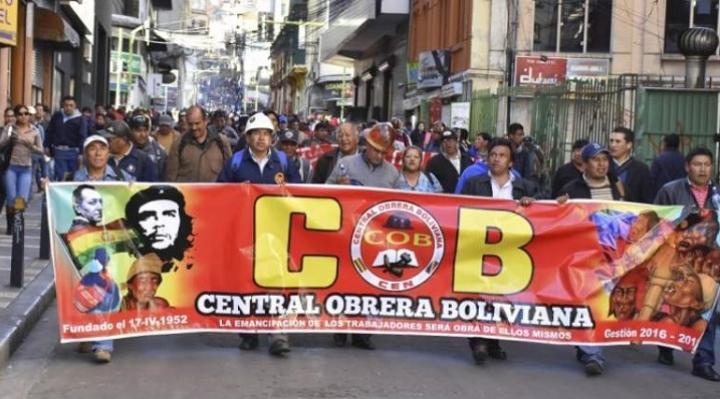 """Exdirigentes de la COB convocan a trabajadores de base al """"desacato sindical"""" contra el fraude electoral y en defensa de la democracia"""
