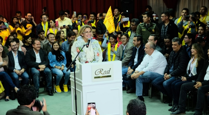 Una importante alianza respalda a Jeanine Añez rumbo a la presidencia