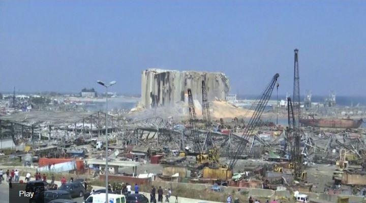 Así quedó la zona cero del puerto de Beirut tras las explosiones: la magnitud de la destrucción