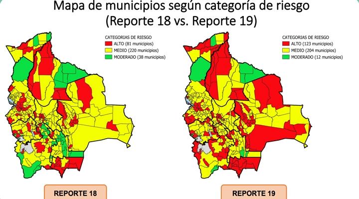 Municipios con riesgo alto de contagio de COVID-19 suben de 81 a 123