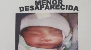 Gobierno dice que existe la posibilidad de que la bebé Samanta pueda estar fuera del país