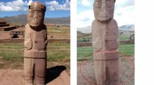 Cinco turistas son procesados por daños en las ruinas de Tiwanaku