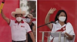 Keiko Fujimori y Pedro Castillo: la ruta de los candidatos en segunda vuelta