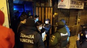 Por incumplir restricciones, Alcaldía de La Paz clausura un local de fiestas que infringía medidas de bioseguridad