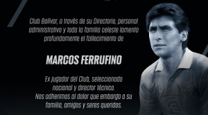 El Covid-19 se cobra la vida del director técnico de fútbol, Marco Ferrufino