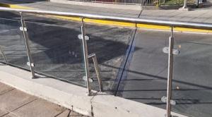 Arias advierte que robo de vidrios de viaducto fue filmado y no quedará impune