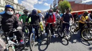 Arranca el Día del Peatón en La Paz con una caravana ciclística de 12 kilómetros