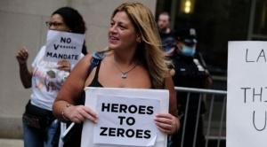 Coronavirus: los miles de trabajadores de la salud de Nueva York dispuestos a perder su empleo para no vacunarse