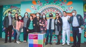 ONU Bolivia celebra su 76 aniversario con un mural por la paz y solidaridad 1
