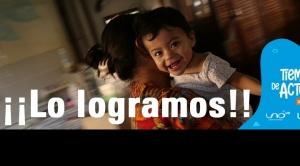 """La campaña """"Tiempo de actuar"""" de UNICEF y Red UNO recaudó 1.142.560 bolivianos para la niñez"""
