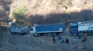 Drama en carreteras bloqueadas, choferes claman alimentos y agua para ellos y animales que transportan