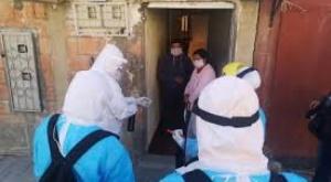 Alcaldía de El Alto aplica dos megacordones sanitarios en Distritos 1 y 3