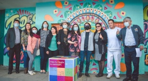 ONU Bolivia celebra su 76 aniversario con un mural por la paz y solidaridad